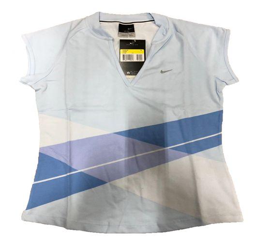 NIKE Shirt atmungsaktives Damen Sport T-Shirt DRI FIT Hellblau