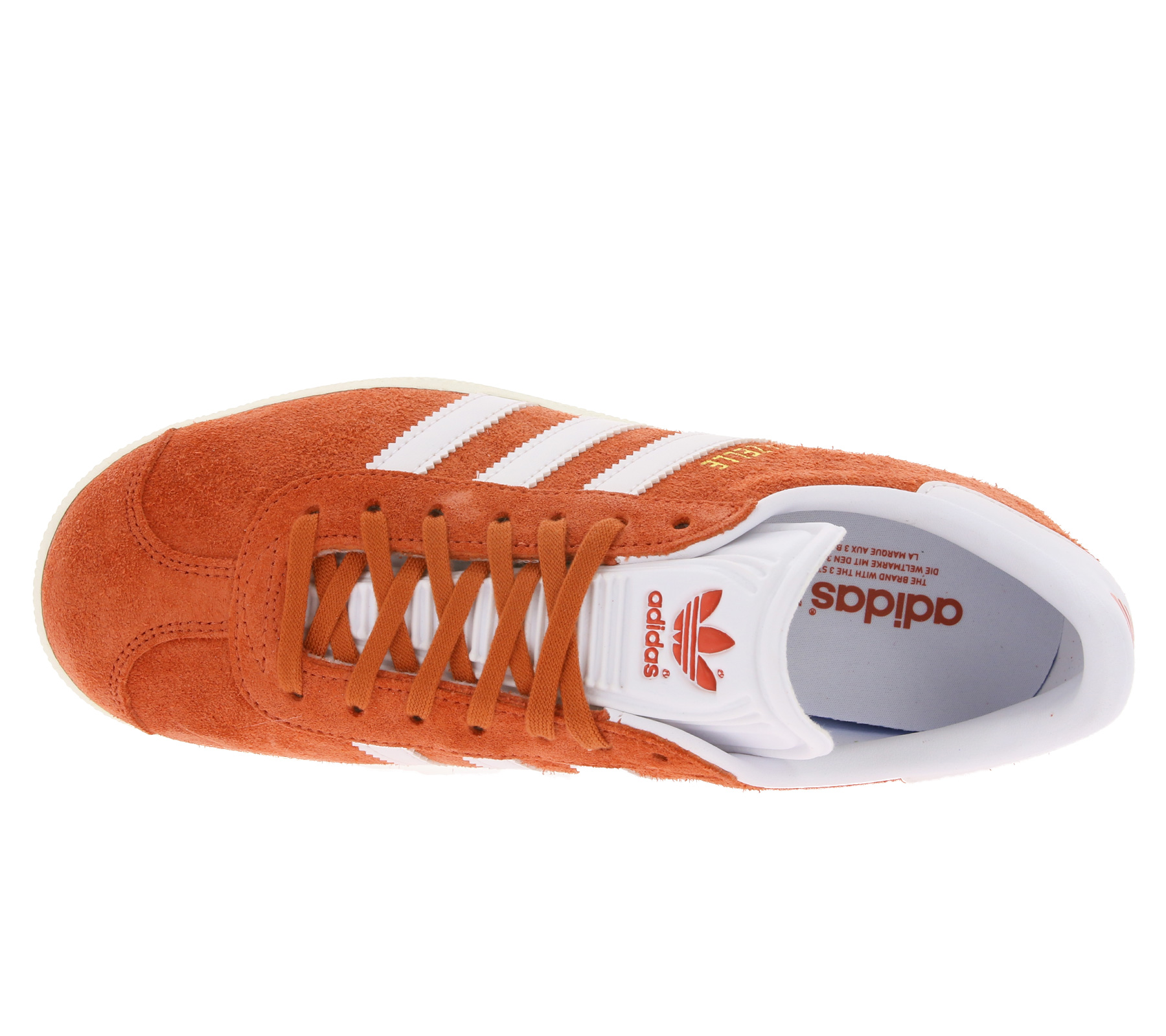 adidas lässige Damen Schuhe Originals Gazelle Sneaker Orange   B2B