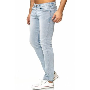 Tazzio Fashion Herren Stretch-Jeans Hellblau