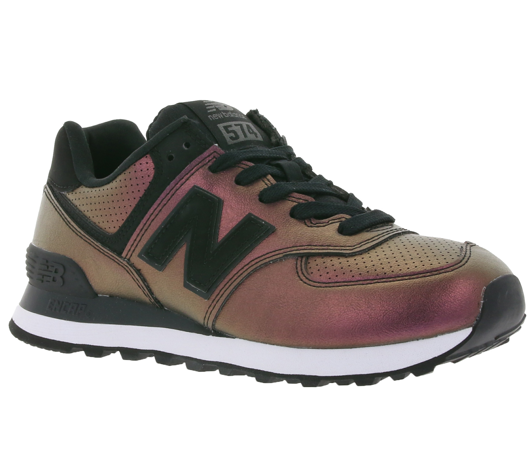 Details about NEW Balance 574 Womens Sneaker Gold Shimmery Womens Trainers  Purple SALE- show original title