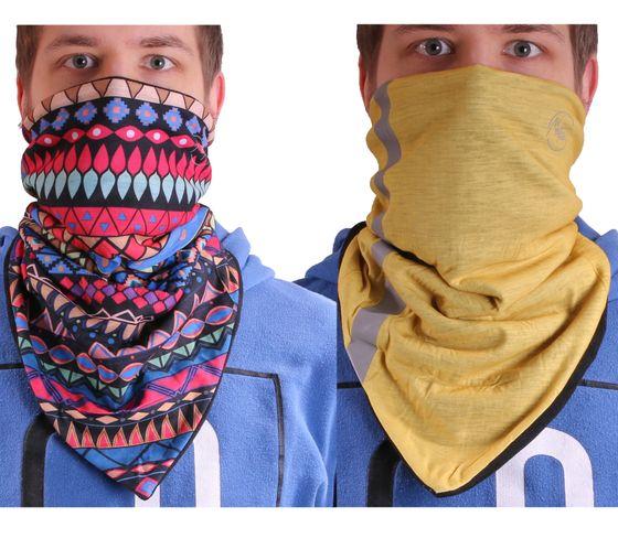 MaxFred Mund-Nase-Windschutz Wind-Schutzmaske Multifunktions-Tuch Sturmhaube Piratentuch für Erwachsene & Kinder