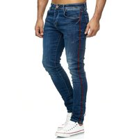 Tazzio Fashion Herren Skinny Fit Jeans Blau