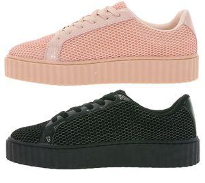 ZAPATO EUROPE Plateau-Schuhe Damen-Sneaker Schwarz & Rosa