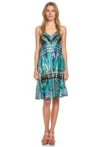Tarifa Trägerin Baumwoll-Qualität Damen Kleid Blau