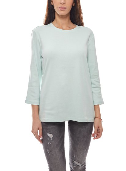 Eddie Bauer Sweater Slim Fit zeitloses Damen Langarm-Shirt Mint