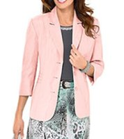 FAIR LADY Schulterpolster-Blazer exzellente Damen Business-Jacke Kurzgröße Große Größen Rosa