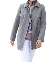 AproductZ Micro-Moss Jacke weiche Damen Übergangs-Jacke Kurzgröße Grau 001