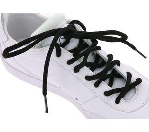 TubeLaces Schuhe Schnürsenkel klassisches Schuhband Schwarz