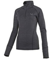 PUMA Sweater wärmender Damen 1/4 Zip Sport-Pullover Heather Dunkelgrau