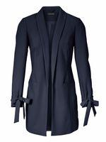 PATRIZIA DINI Blazer Long-Blazer elegantes Damen Jackett in Crêpe-Qualität Blau