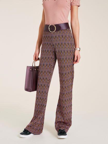 rick cardona Hose Jersey-Hose schicke Damen Druck-Hose mit Gummizug Große Größen Bunt