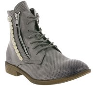 ARIZONA Schuhe Boots coole Damen Schnür-Stiefeletten Grau Used