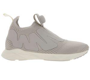 Reebok Schuhe coole Damen Sneaker Pump Supreme Style Hellgrau/Weiß
