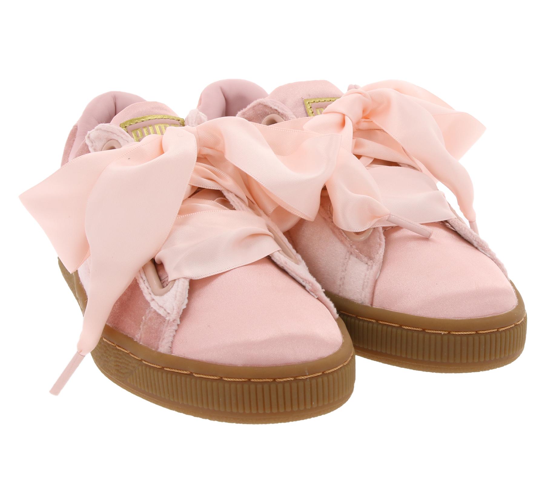 PUMA Damen Sneaker Basket Heart trendige Schuhe Pink   O46