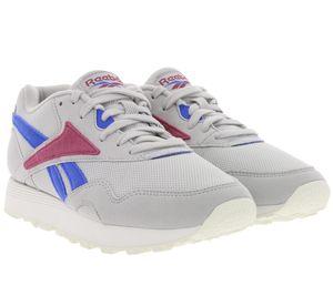 Reebok Schuhe 90s Sneaker Rapide Mu bequeme Damen Turnschuhe Grau
