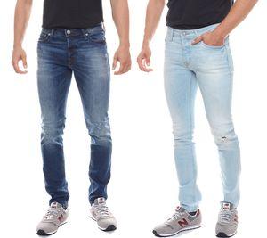 Jack & Jones Jeans Glenn Herren-Hose Hellblau & Blau