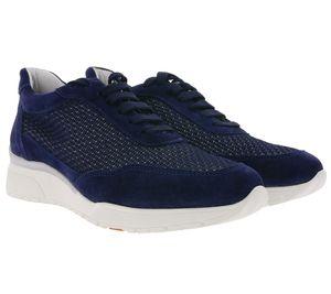 Bata Turn-Schuhe coole Echtleder-Sneaker für Damen Navy/Weiß