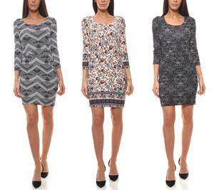 AjC Kleid Druck-Kleider coole Damen Sommer-Kleider mit tollen Mustern