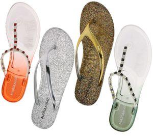 MARIAMARE Zehentrenner durchsichtige Damen Bade-Schuhe inklusive Plastik-Bag