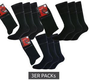 3er Pack Pierre Cardin Strümpfe zeitlose Business-Socken mit hohem Baumwollanteil