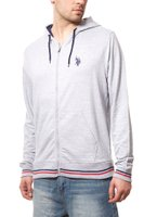 U.S. POLO ASSN. Sweatjacke Herren Sweater Grau