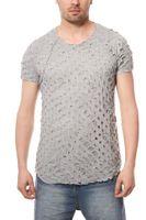 CARISMA T-Shirt Ripped Herren Cut Grau  – Bild 2