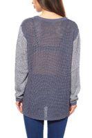 Vokuhila Pullover Damen Blau – Bild 4