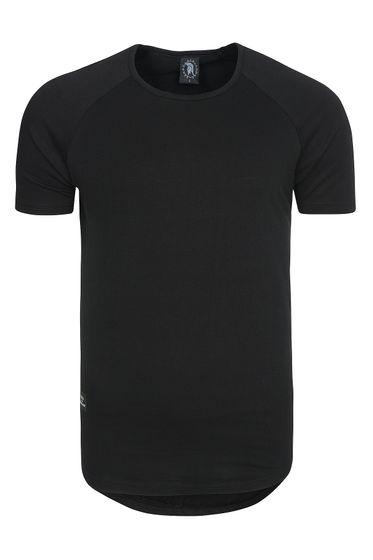 Vokuhila T-Shirt Herren Spartans History Schwarz