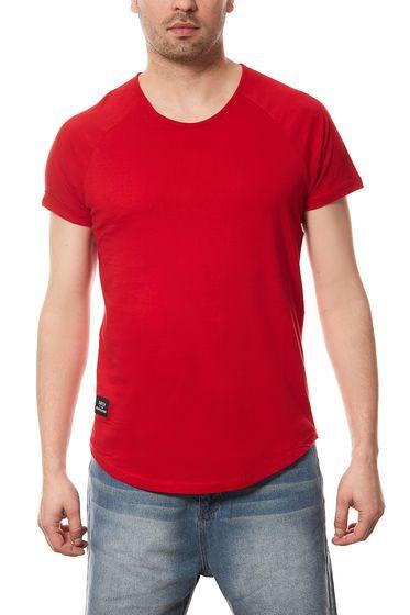 Vokuhila T-Shirt Herren Spartans History Rot