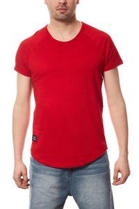Vokuhila T-Shirt Herren Spartans History Rot – Bild 1