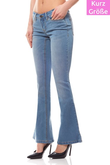 AjC Super Stretch Jeans Damen Kurzgröße Blau
