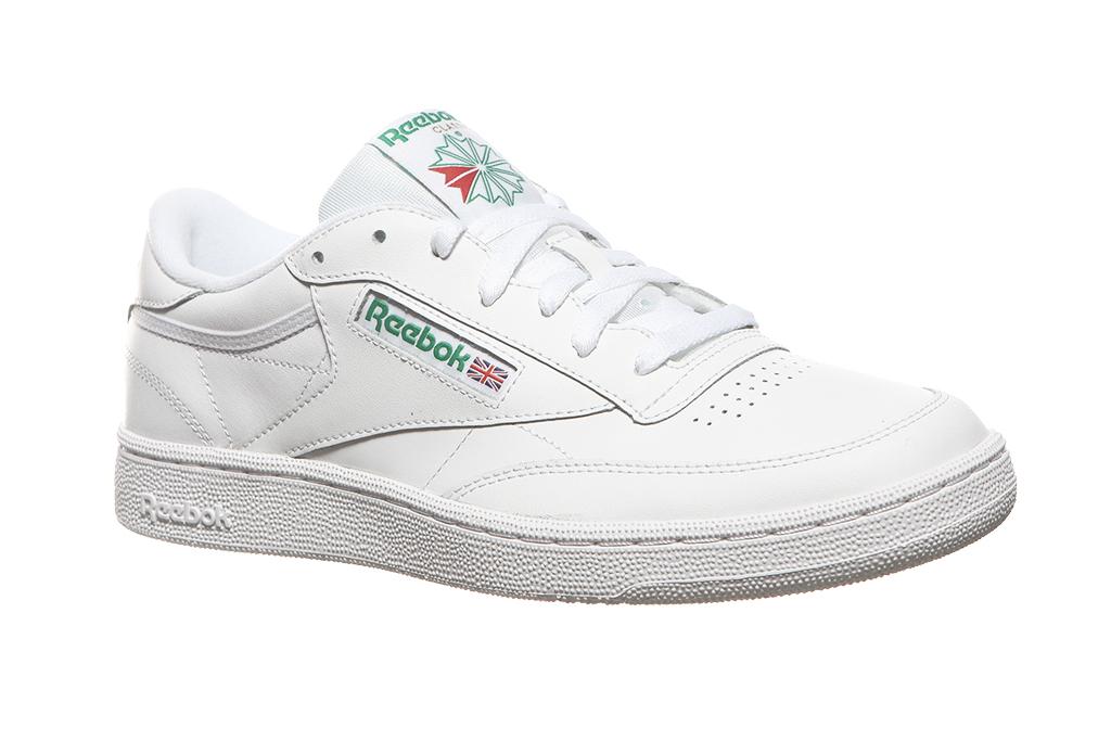 Details zu Reebok Classic Echtleder Sneaker Herren Club C 85 Weiß