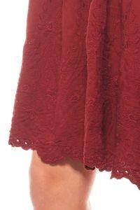romantisches Kleid Stickereikleid Knielang Jerseykleid Bordeaux rick cardona – Bild 3