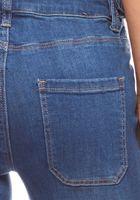 Schlichte High Waist Jeans mit aufgesetzten Taschen Kurzgröße Blau ARIZONA – Bild 3