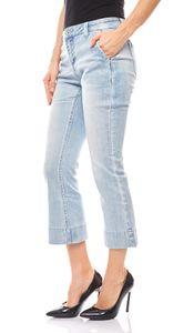 B.C. Best Connections Damen Flared Jeans Kurzgröße Hellblau – Bild 1
