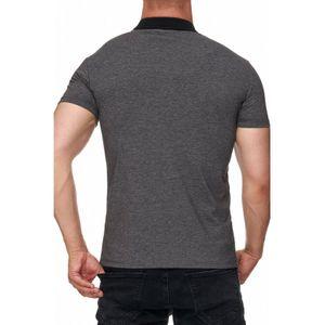 Tazzio Fashion eng anliegendes Herren Polo-Shirt Anthrazit – Bild 3