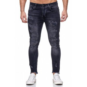 Tazzio Fashion Herren Skinny Fit Jeans Schwarz – Bild 1
