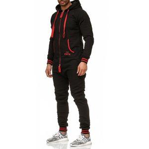 Tazzio Fashion Herren Jumpsuit Schwarz -Rot