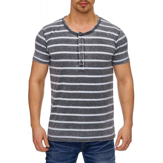 Tazzio Fashion Herren T-Shirts Anthrazit
