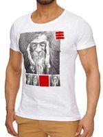 Tazzio Herren T-Shirt Weiß  001