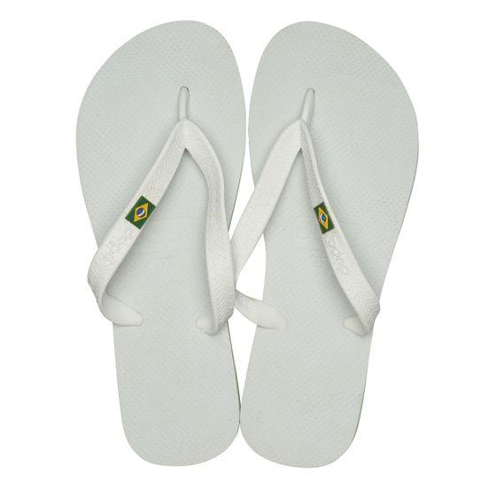 dupé Badelatschen moderne Zehentrenner Brasil Weiß Schuhe