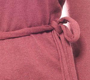 Laura Scott warmer Damen Feinstrick-Pullover mit Schal Bordeaux – Bild 3
