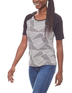 Laura Scott cooles Damen T-Shirt mit Grafik-Print Schwarz