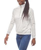 Noisy may stylischer Damen Pullover mit Reißverschluss Hellgrau