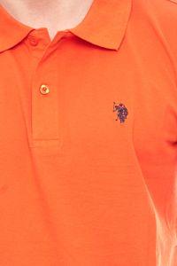 U.S. POLO ASSN. modernes Herren Polohemd Poloshirt Orange – Bild 3