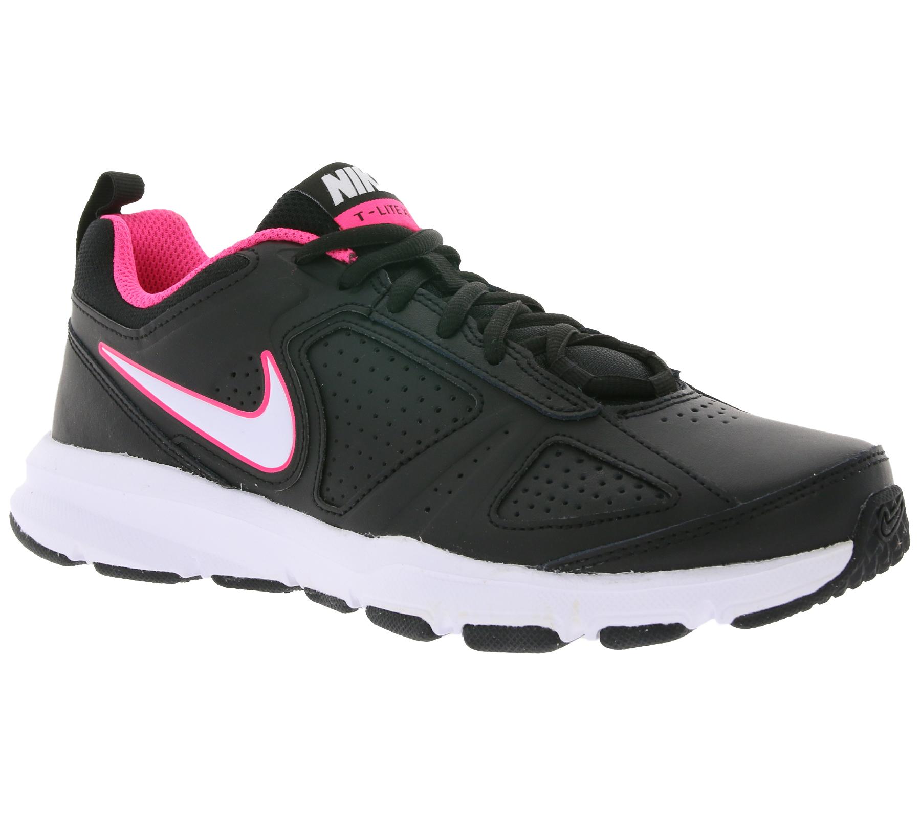 NIKE Schuhe klassische Damen Sportschuhe T-Lite XI Schwarz