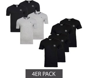 4er Pack HARVEY MILLER POLO CLUB Shirt Basic Herren T-Shirts – Bild 1